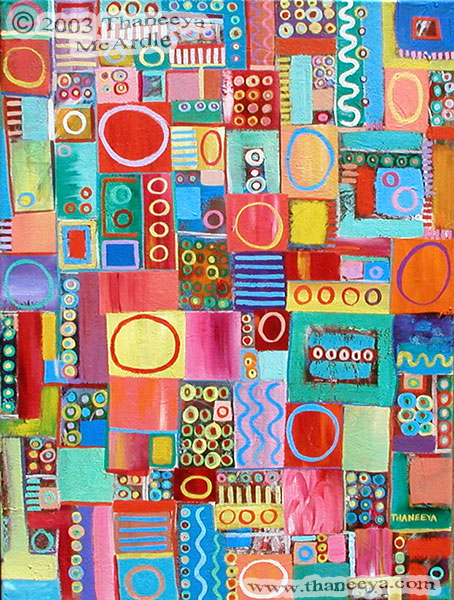 Colorful Abstract Painting by Thaneeya McArdle
