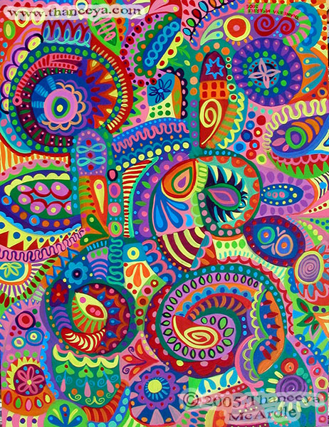 Colorful Abstract Detailed Art by Thaneeya
