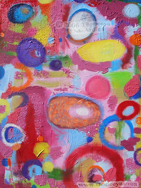 Abstract Textured Acrylic Painting by Thaneeya