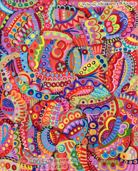 colorful abstract art detailed psychedelic abstract paintings and