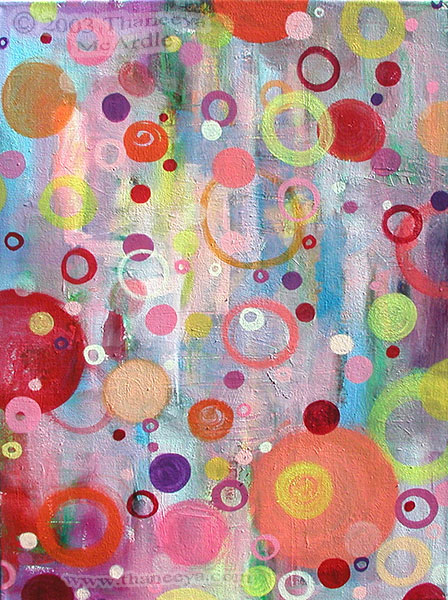 Abstract Bubbles Painting by Thaneeya