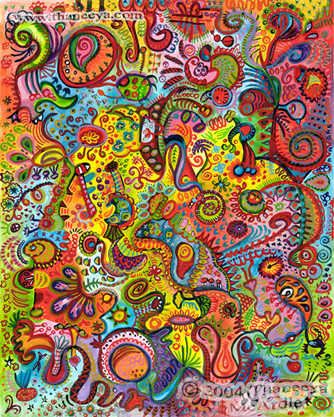 Psychedelic Colorful Abstract Art by Thaneeya