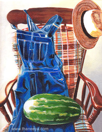 Photorealism Still Life Painting by Thaneeya