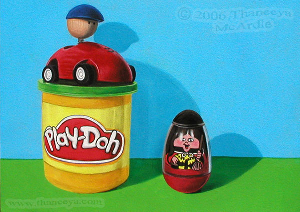 Photorealist Acrylic Painting Toys by Thaneeya