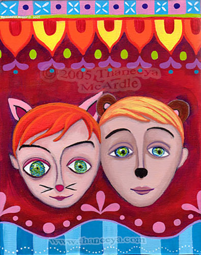 Whimsical Twins Painting by Thaneeya McArdle