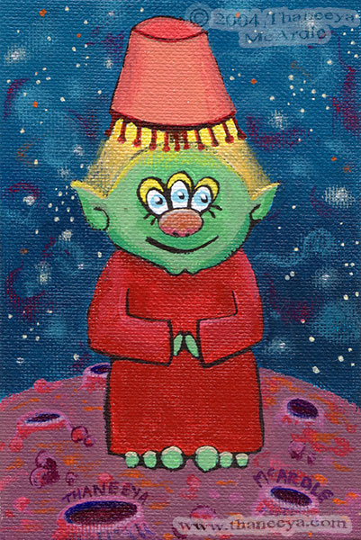 Cute Alien Painting by Thaneeya McArdle