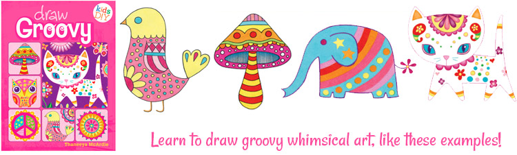 Whimsical Groovy ARt By Thaneeya