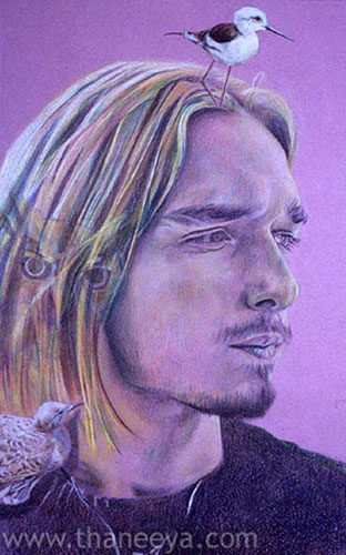 Portrait Drawing Colored Pencil by Thaneeya