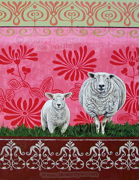 Colorful Sheep Art by Thaneeya McArdle