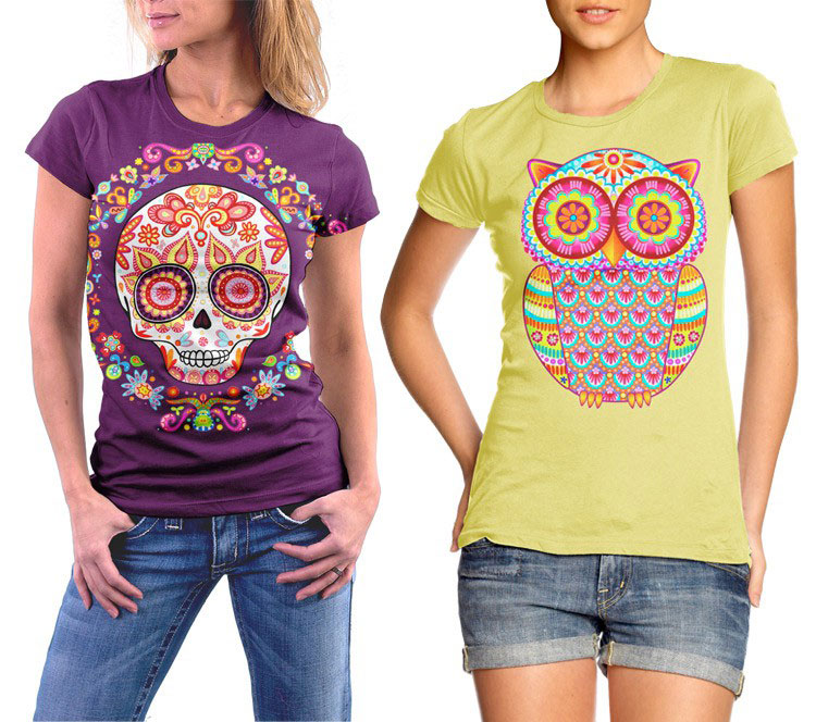 Colorful Art Shirts by Thaneeya