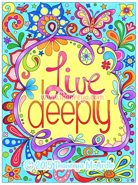live deeply from good vibes coloring book