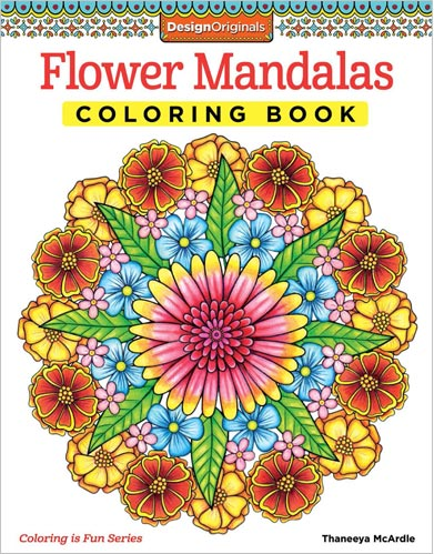 Flower Mandalas Coloring Book by Thaneeya