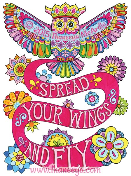 Spread Your Wings and Fly Coloring Page by Thaneeya