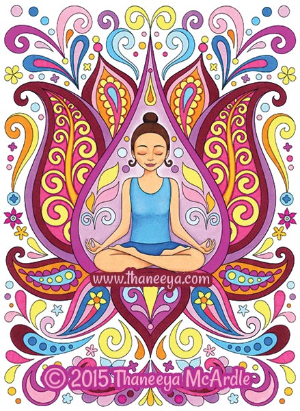 Follow Your Bliss Coloring Book Meditation by Thaneeya