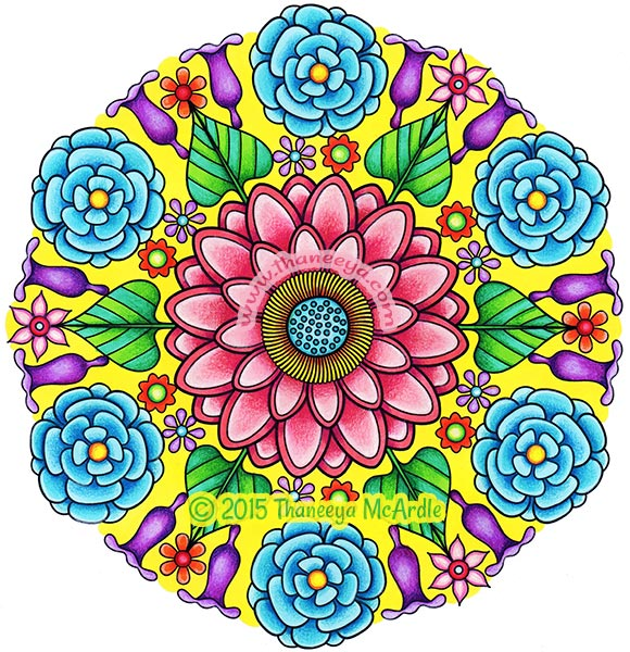 Flower Mandalas Coloring Book by Thaneeya McArdle — Thaneeya.com