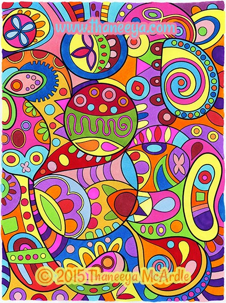Groovy Abstract Coloring Page from Thaneeya McArdle