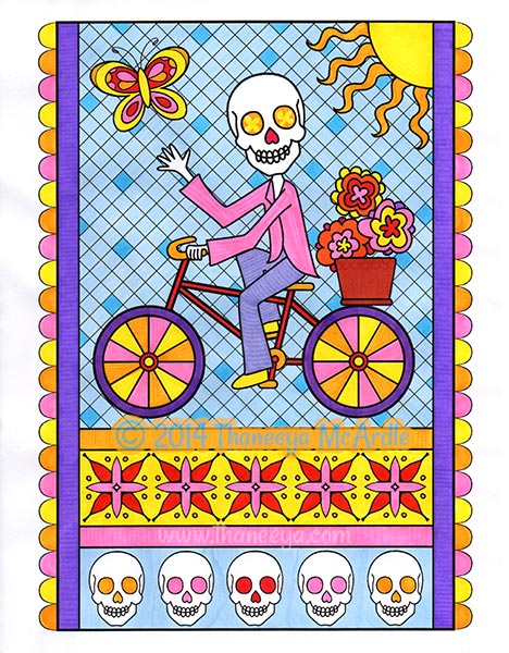 Day of the Dead Coloring Page by Thaneeya McArdle