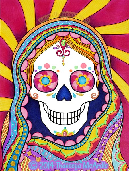 Day of the Dead Coloring Book Woman