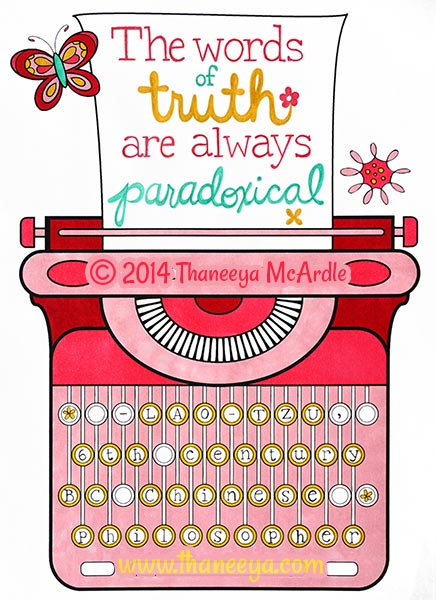 Hipster Coloring Book Typewriter Page by Thaneeya