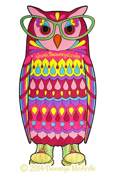 Dapper Animals Coloring Book Owl By Thaneeya