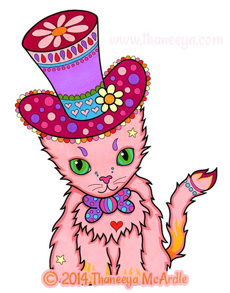Dapper Animals Coloring Book Cat By Thaneeya
