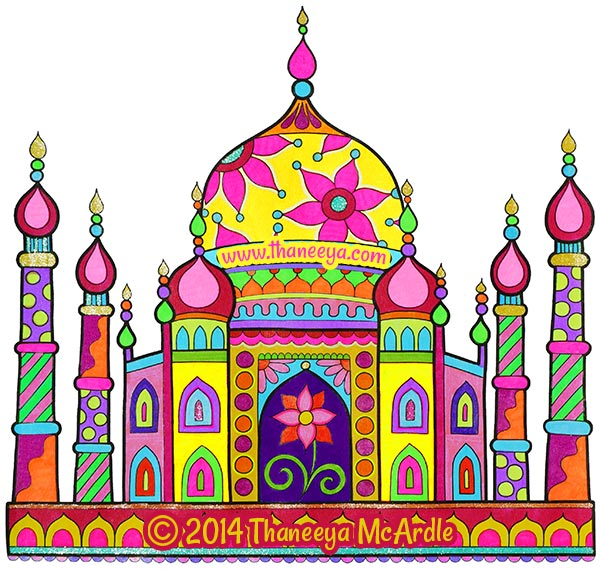 World Traveler Coloring Book Page by Thaneeya