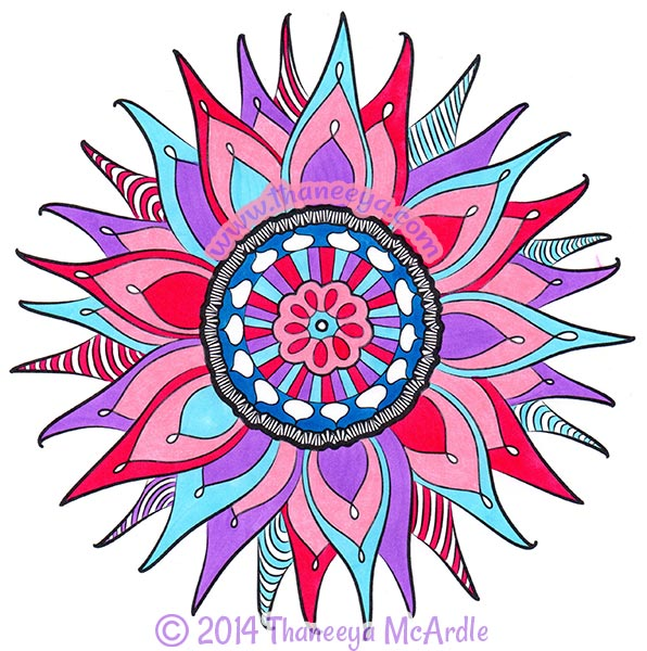 Nature Mandala Coloring Page by Thaneeya McArdle