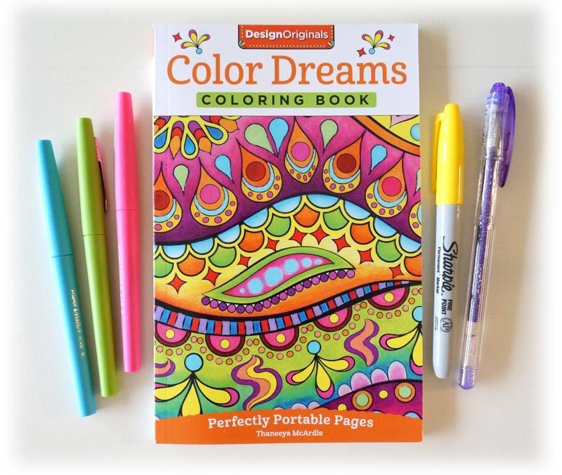 color dreams portable coloring book by thaneeya mcardle - Book Pictures To Color