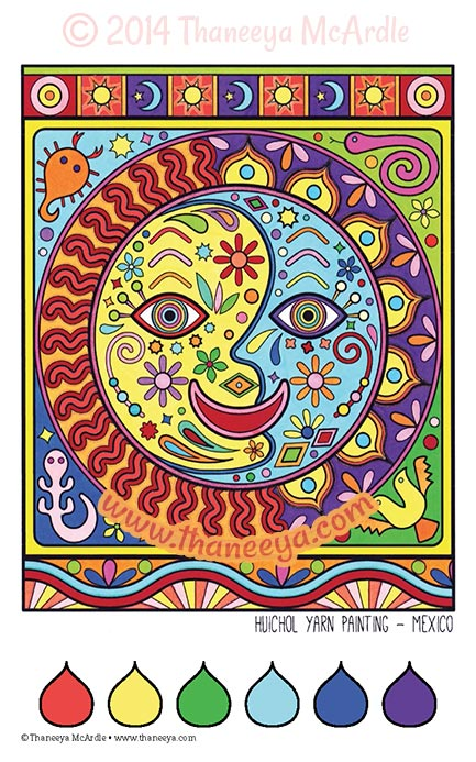 Color Dreams Coloring Book Page by Thaneeya McArdle