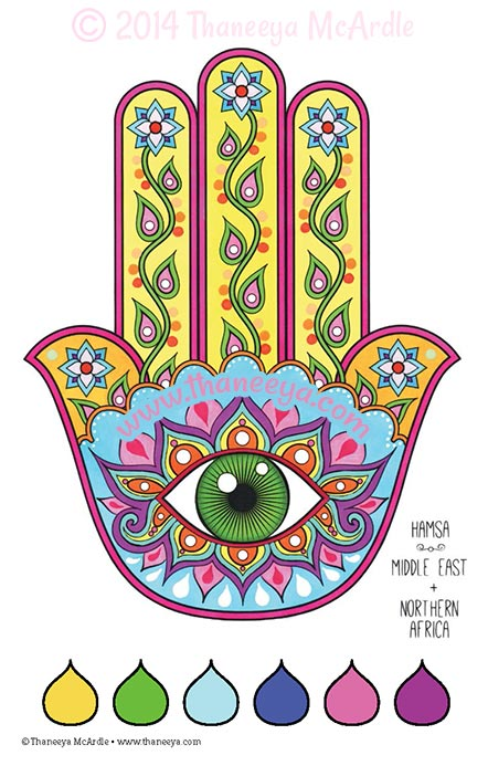 Color Dreams Coloring Book Hamsa by Thaneeya McArdle