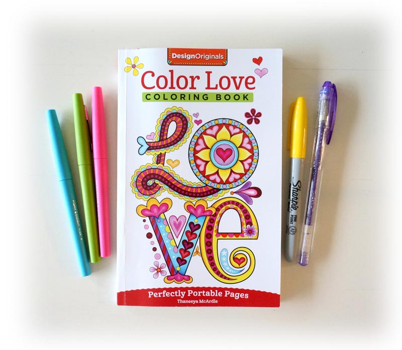 color love portable coloring book by thaneeya mcardle - Color Books