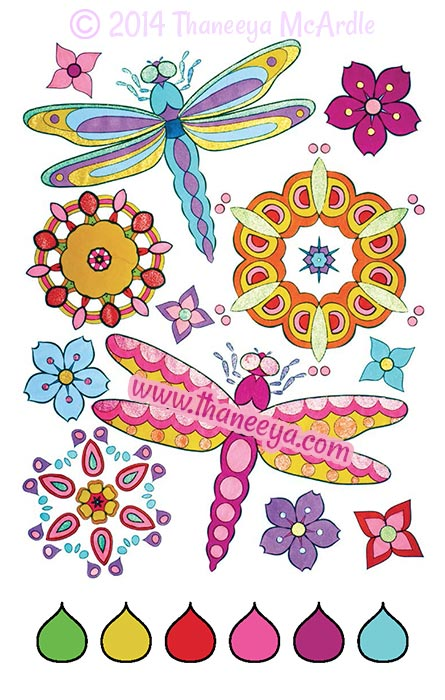 Color Love Coloring Book Page by Thaneeya McArdle