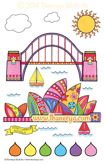 Color Fun Coloring Book Page by Thaneeya McArdle