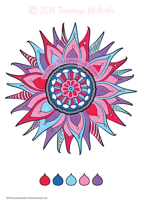 Flower Mandala Coloring Page by Thaneeya McArdle