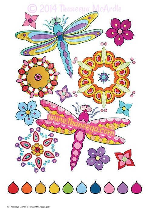 Dragonfly Coloring Page by Thaneeya McArdle