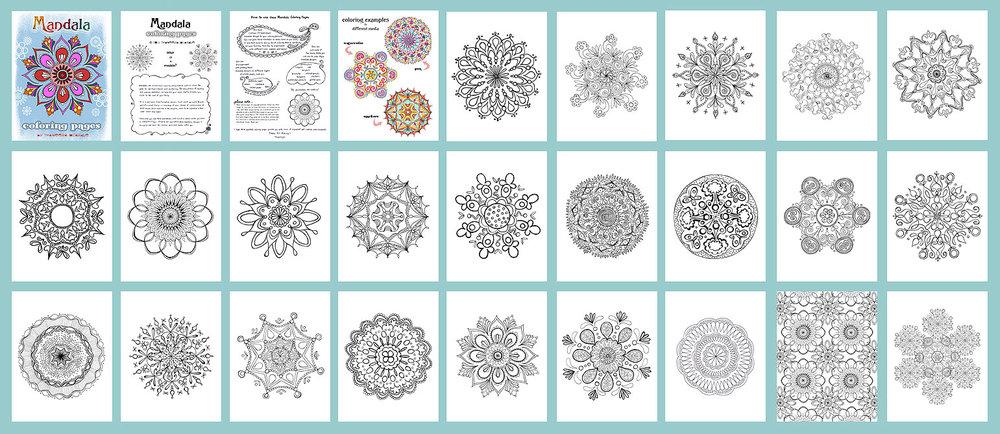 Mandala Coloring Pages Thaneeya