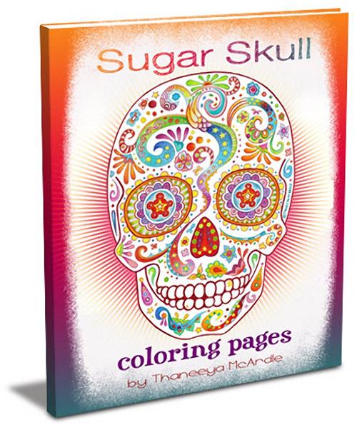 sugar skull coloring pages thaneeya - photo#17