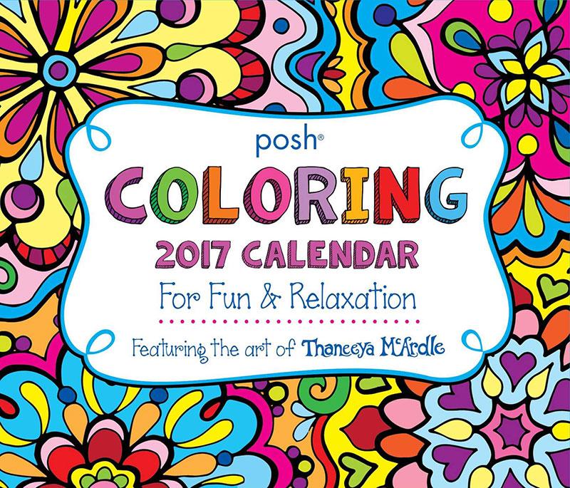 2017 Posh Coloring Calendar