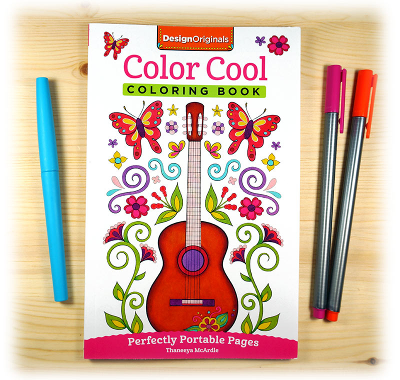 Color Cool Portable Coloring Book by Thaneeya