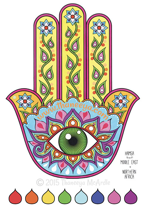 Hamsa Coloring Page by Thaneeya McArdle