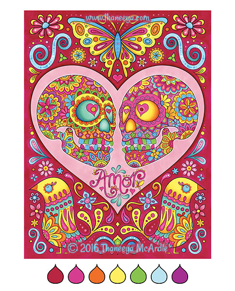 Amor coloring page by Thaneeya McArdle
