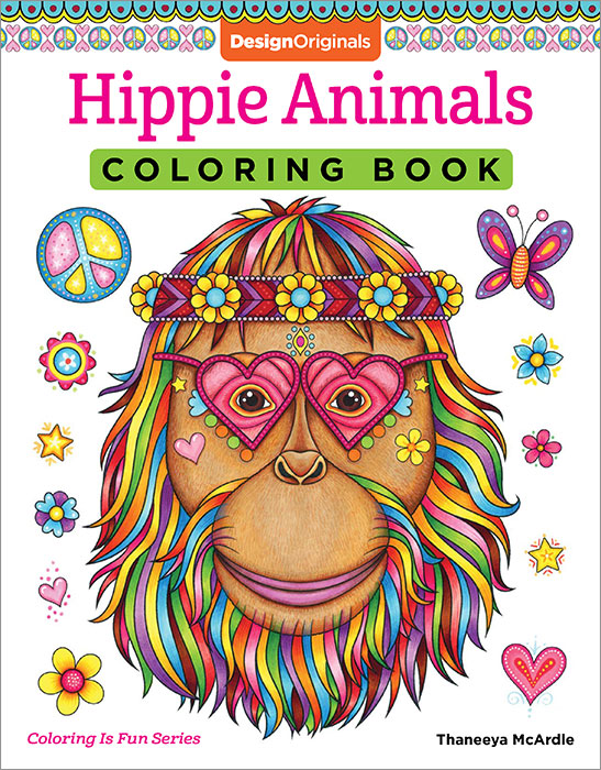 Hippie Animals Coloring Book