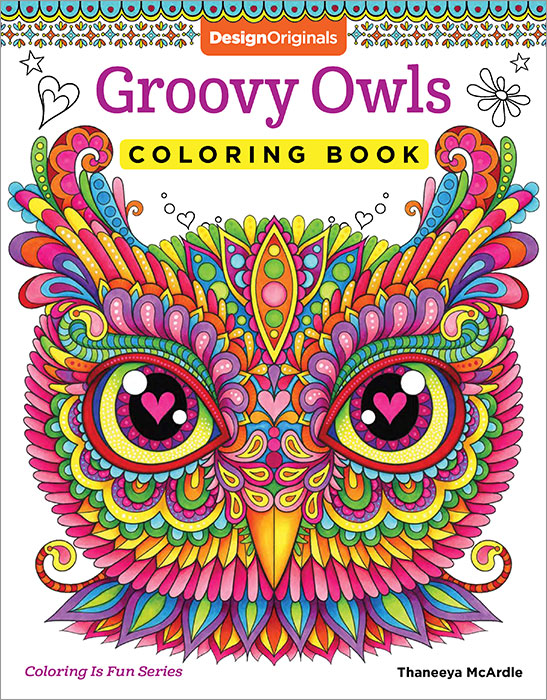 Groovy Owls Coloring Book By Thaneeya McArdle