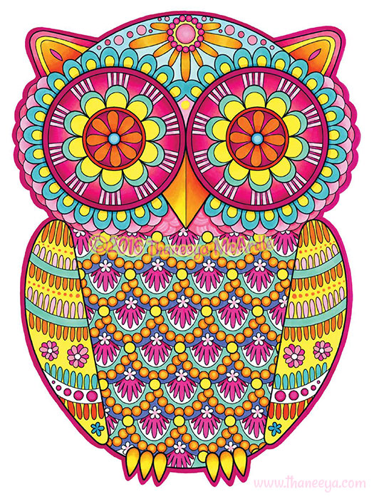 Groovy Owl Coloring Page By Thaneeya McArdle