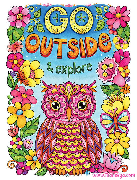 Go Outside and Explore Coloring Page
