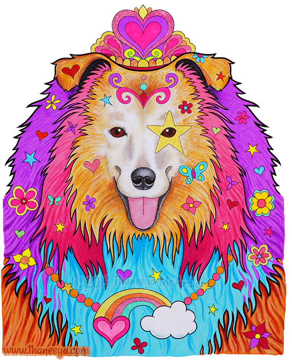 Cali the Colorful Collie by Thaneeya McArdle