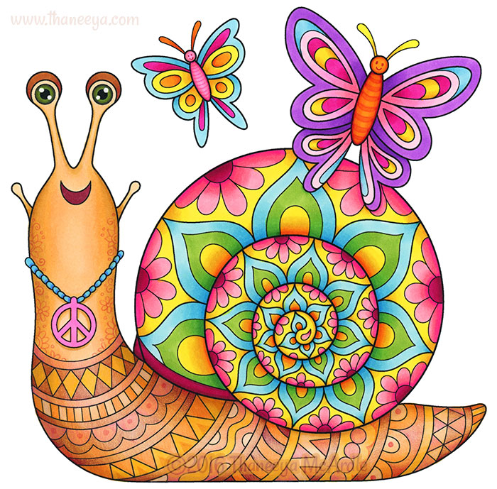 Groovy Snail By Thaneeya McArdle