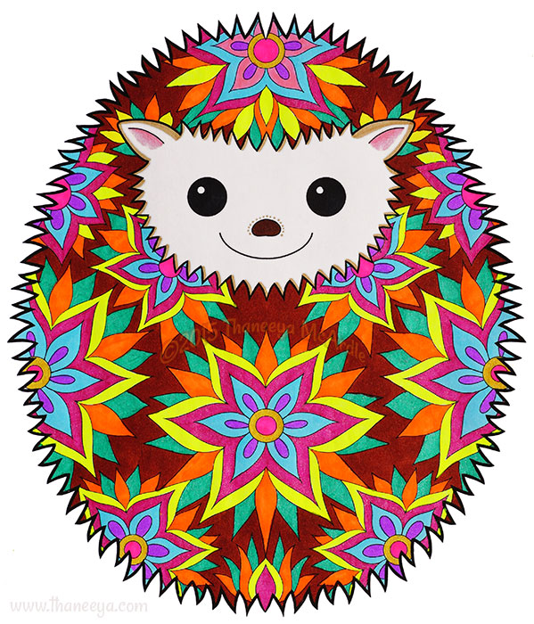 Happy Hedgehog by Thaneeya McArdle
