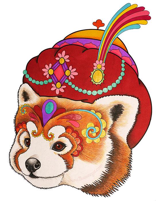 Renauldo the Red Panda by Thaneeya McArdle