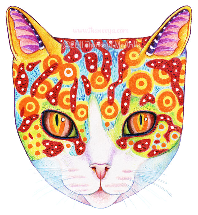 Butterfly Coloring Page By Thaneeya McArdle Cosmic Cat